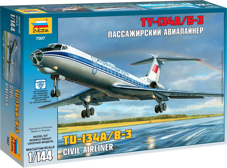 """Пассажирский авиалайнер """"Ту-134"""""""