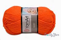 Турецкая пряжа YarnArt Baby мандарин №8279