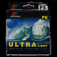 Шнур EOS PE, 0.12 мм., 150м., 9,69 кг. (зеленый)