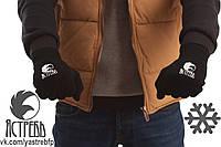 Перчатки зимние мужские «Ястребь» Черные