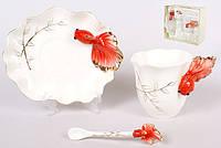 """Подарочный чайный набор """"Рыбка"""", Чашка 220 мл, блюдце+ложка"""