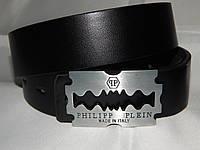 Ремень мужской кожаный PHILIPP PLEIN, черный 40 мм 930481