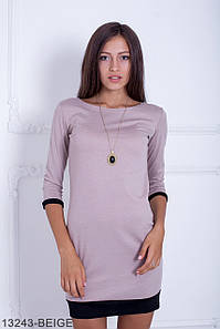 (L / 48) Стильне бежеве повсякденне плаття Fansy Розпродаж