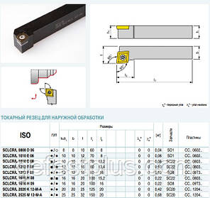 SCLCL 2020 K12 Резец проходной  (державка токарная проходная) , фото 2