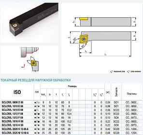 SCLCR 2020 K09 Резец проходной  (державка токарная проходная) , фото 2