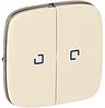 Клавиша 2-клавишного выключателя с подсветкой слоновая кость 755226 Legrand Valena Allure