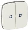 Клавиша 2-клавишного выключателя с подсветкой перламутр 755229 Legrand Valena Allure