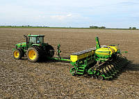 Посев зерновых John Deere 7930 + сеялка John Deere 1745