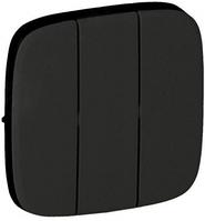 Клавиша 3-клавишного выключателя чёрная 755038 Legrand Valena Allure