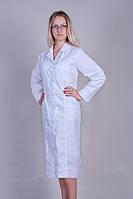 Коттоновый медицинский женский халат больших размеров Х-3111