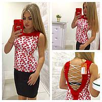 Женский юбочный костюм летний