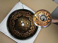 Комплект: умывальник накладной стеклянный HS 6135 + смеситель, фото 1
