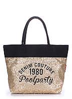 Женская коттоновая сумка POOLPARTY черная