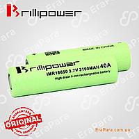 Аккумулятор Brillipower 18650  3100mAh  40A