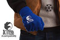 Зимние перчатки «Ястребь» Синие (унисекс)