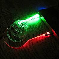 LED Кабель Micro Usb для Samsung, HTC, Android / зеленый