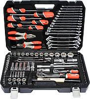 """Комбинированный набор инструмента 1/2"""", 1/4"""", 109 ед. YATO YT-38891."""