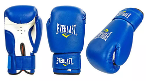 Перчатки бокс PVC на липучке ЮНИОР MA-0033-B(6) ELAST, ZEL, MATSA (р. 6oz, синий)