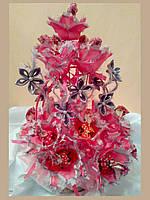 Букет из конфет на подарок Розовый рай