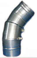 Колени для дымохода поворотные одностенные из нержавеющей стали (0°-90°)