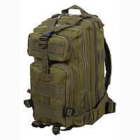 Новый Тактический Штурмовой Военный Рюкзак 25л Oxford 600D + Подарок! 25.0, Система подвески Molle, Германия, зеленый