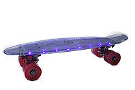 Пенни борд Скейтборд Explore Penny Board 22 Гарантия Обслуживание FIERO со светящейся платформой