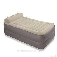 Велюр кровать INTEX 67776 с подголовником, в наборе с насосом 220В (66620), 99-191-47см IKD /8-34