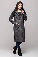 Модное молодежное серое пальто Венеция Leo Pride 44-46 размеры