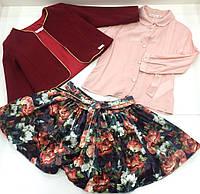Детский костюм - пиджак ,  блузка , юбка - для девочки на 2 -6 лет