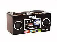 Радиоприемник Opera OP-7707, портативная акустика, встроенный аккумулятор, часы, будильник, пульт.
