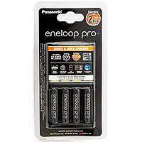 Зарядное устройство для аккумуляторов PANASONIC Smart-Quick Charger+Eneloop Pro +4*AA 2500 mAh NI-MH (K-KJ55HCD40E)