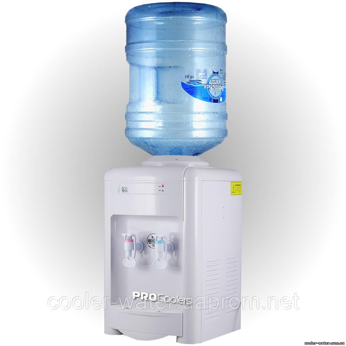 """Кулер для воды Ecotronic H2-TE White - Интернет-магазин """"cooler-water"""" - Кулеры и аксессуары для воды в Киеве"""
