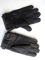 Кожаные перчатки теплые флисовая подкладка 9.5 размер, фото 1