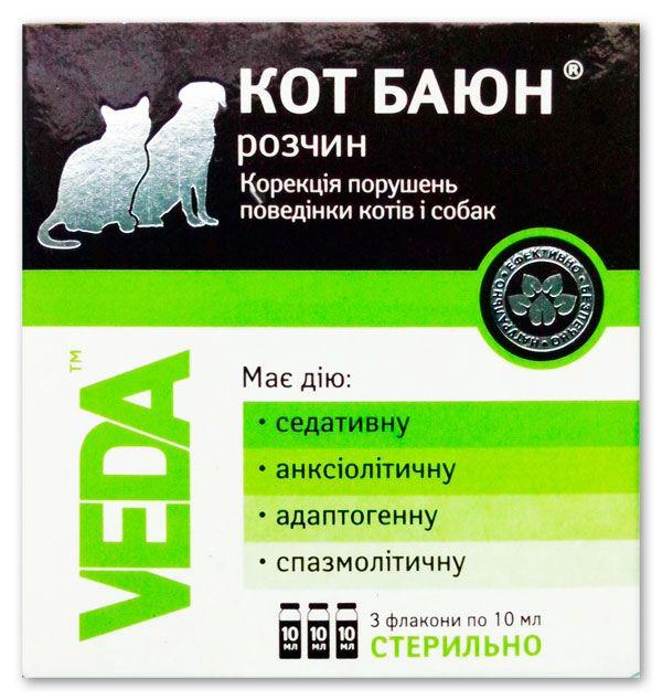 Кот Баюн для кошек и собак Веда. Россия. ( 3фл. в уп. )