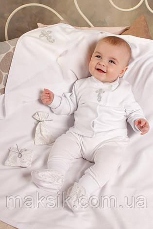 Крестильный комплект для новорожденных р.56-74, фото 2