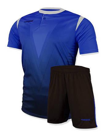 Футбольная форма Europaw 011 синяя , фото 2