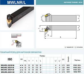 MWLNR2525M08 Резец проходной  (державка токарная проходная) , фото 2
