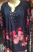 Женская блуза в принт орхидеи