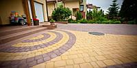 Плитка тротуарная Носталит (Старый город), толщина 80 мм, цвет Оливковый, фото 1