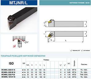 MTJNR2525M16 Резец проходной  (державка токарная проходная) , фото 2