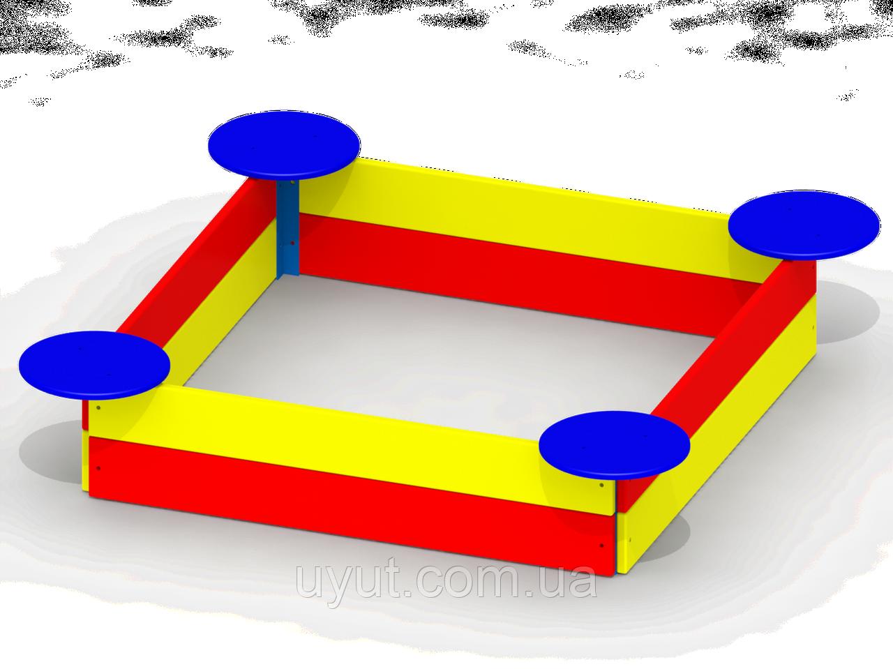 Песочница с сиденьями мала P37