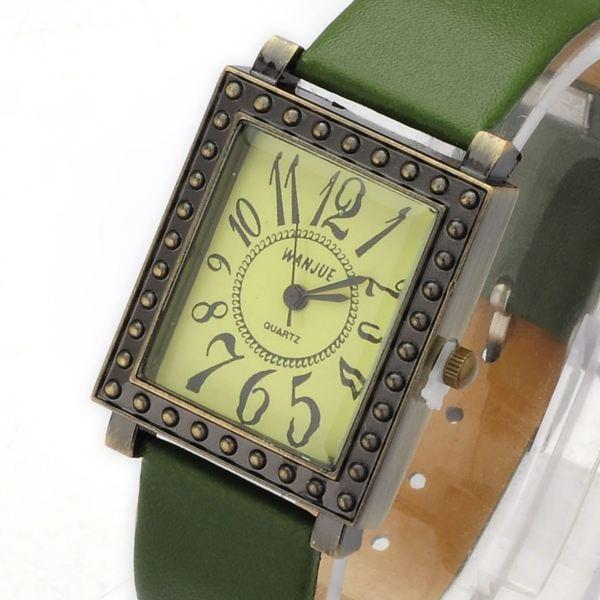 Часы женские наручные винтажные Brooklyn green