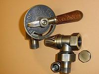 """Комплект ретро кранов для подключения радиатора 1/2"""" угловой handle flower bronze Carlo Poletti"""