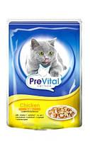 Паучи PreVital (ПреВитал, Чехия) для котов с птицей в желе, 100г.