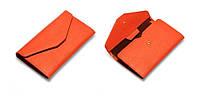Женский оранжевый портмоне-чехол для телефона