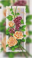 """Схема для вышивки бисером """"Розы"""", на холсте 55х24 см"""