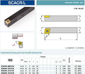 SCACR1010H06 Резец проходной (державка токарная проходная)  , фото 2