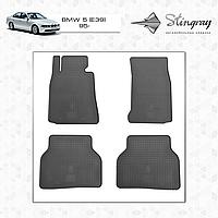 Коврики резиновые в салон BMW 5 (E39) с 1995 (4шт) Stingray 1027024