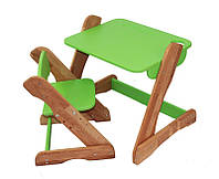 Детский столик и стульчик Карапуз (зеленый)
