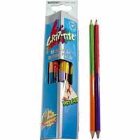 Карандаши акварельные с кисточкой, 12 карандашей 24 цвета двухцветные Grip-Rite Marco 9121-12CB
